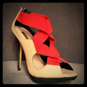 Zara Woman Patch-Work Stilettos